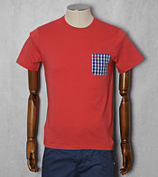 Fred Perry 3 Colour Gingham Pocket T- Shirt - Exclusive