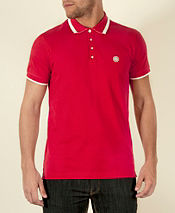 Pretty Green Stripe Collar Polo Shirt