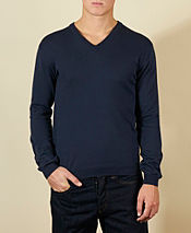 Aquascutum Check Panel V Neck Knit