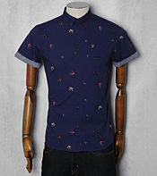 Farah Vintage Short Sleeved Drifter Hook Shirt