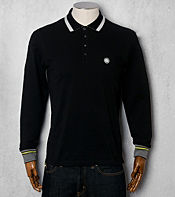 Pretty Green Under Collar Striped Polo Shirt - Exclusive