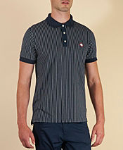 Pretty Green Pinstripe Polo Shirt