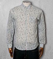 Pretty Green Paisley Long Sleeved Shirt