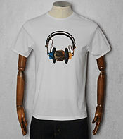 Pretty Green Headphone Apple T-Shirt