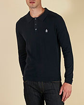 Original Penguin Long Sleeve Knitted Polo Shirt