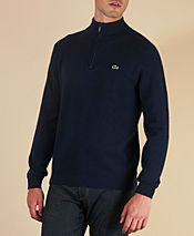 Lacoste Plain Half Zip Knit