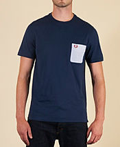 Fred Perry Seersucker Pocket T-Shirt