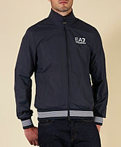Emporio Armani EA7 Striped Cuff Windproof Jacket