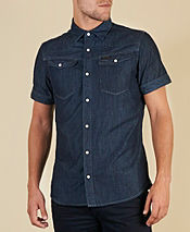 G-STAR Tailor Denim Short Sleeve Shirt