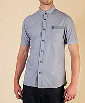 Fred Perry Gingham Trim End on End Shirt