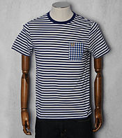 Fred Perry Striped Gingham Pocket T-Shirt