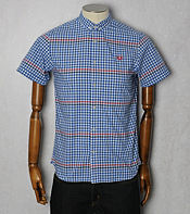 Fred Perry Gingham Stripe Short Sleeved Shirt