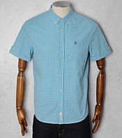 Original Penguin Micro Gingham Print Shirt