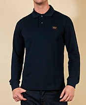 Paul and Shark Long Chest Badge Polo
