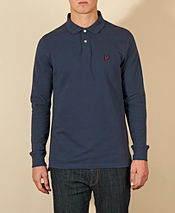 Lyle & Scott Long Sleeve Pique Polo Shirt