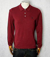 Original Penguin Long Sleeve Knitted Polo Shirt - Exclusive