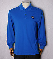 Paul and Shark Logo Long Sleeve Polo Shirt