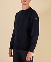 Paul and Shark Sleeve Badge Crew Knit