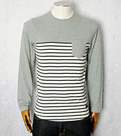 Maharishi Stripe Long Sleeved T- Shirt