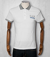 Emporio Armani EA7 Striped Collar Polo Shirt - Exclusive