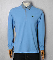 Lacoste Chambray Collar Polo Shirt