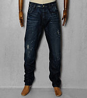 G-STAR A-Crotch Tapered Dark Aged Jeans - Long