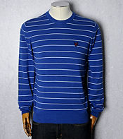 Lyle & Scott Stripe Pima Crew Knit