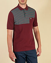 Fred Perry Half Fine Stripe Polo Shirt