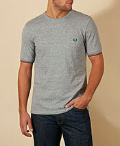Fred Perry Pique Pocket Steel T-Shirt