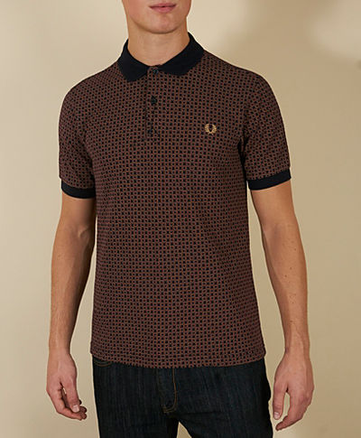 Fred Perry Circle All Over Print Polo Shirt