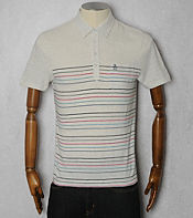 Original Penguin Stripe Slub Polo Shirt